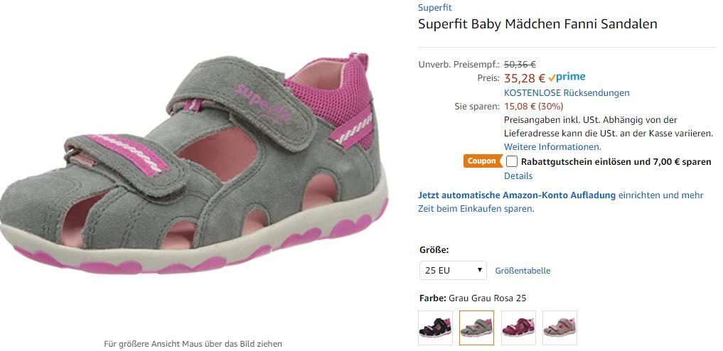 Superfit Baby Mädchen Fanni Sandalen in 18 28 Preisjäger