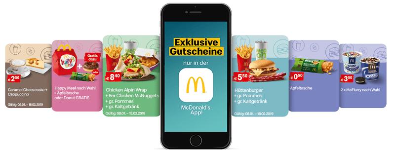 McDonald's Gutschein App