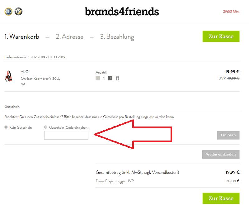 brands4friends Gutschein