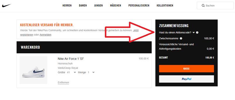 Nike Store Gutschein ⇒ 20% Rabatt, September 2019 - Preisjäger