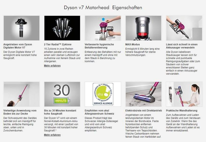 dyson akku staubsauger v7 motorhead. Black Bedroom Furniture Sets. Home Design Ideas