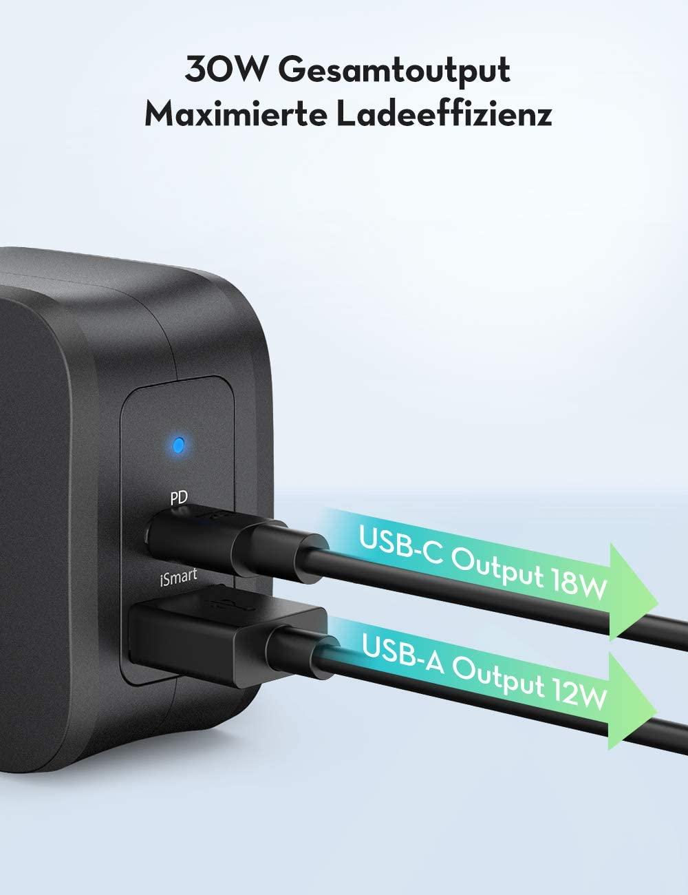 RAVPower RP PC132 USB C Ladegerät mit 30W Preisjäger