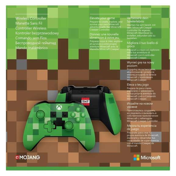 Xbox One S Wireless Controller Minecraft Green Limited Edition Für - Minecraft pc controller spielen