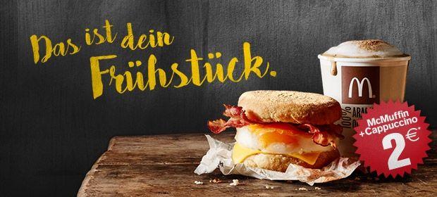 McDonald\'s Frühstück: McMuffins + Getränk um 2 € - (bis 13.3.2016 ...