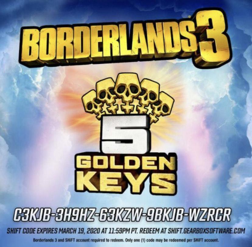 borderlands 3 schlüssel einlösen