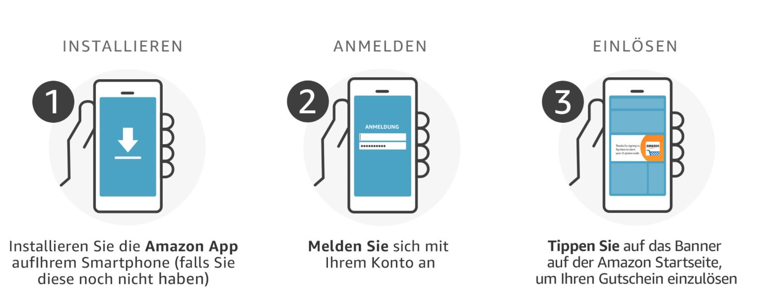 Top Amazon App 10 Gutschein Für App Neukunden Ab 25