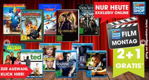 LIBRO Online Shop: 2 + 1 Filmaktion mit DVD's und Blu Ray's - Ersparnis von bis zu 33%