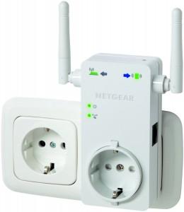 Top! Netgear WLAN Repeater (300 Mbps, LAN, WPS, integrierte Steckdose) um 24,99 € - bis zu 45% sparen