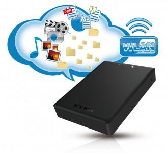 """RaidSonic """"Icy Box"""" - 2,5"""" USB 3.0 Festplattengehäuse mit WLAN um 23,99 € - 45% sparen"""