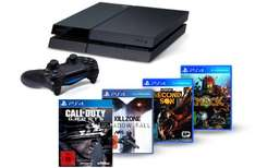 PlayStation 4 + Killzone: Shadow Fall + Knack + inFamous Second Son + CoD: Ghosts für 504 €