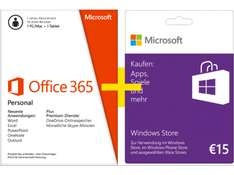 Microsoft Office 365 Personal (PC, Mac, Tablet) + 15 € Guthabenkarte um 55 € - 13% sparen