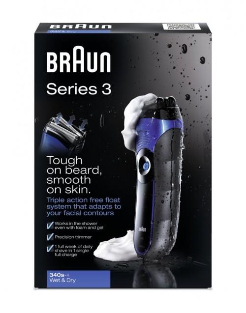 Braun Series 3 340s Wet & Dry Rasierer für 50,15 € - 38% sparen