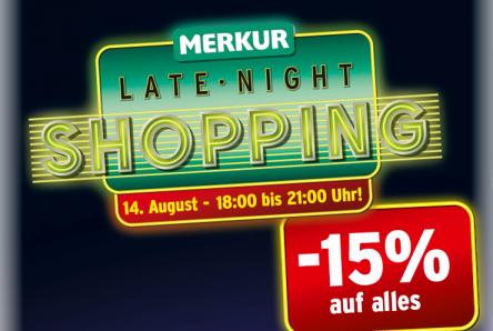 Nur heute von 18-21 Uhr: Late Night Shopping bei Merkur -15% auf fast alles