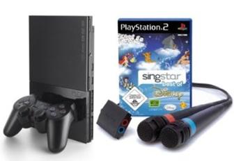 PlayStation 2 inkl. SingStar Disney mit 2 Mikros