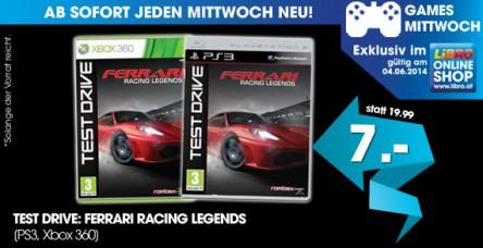 Test Drive Ferrari Racing Legends (für PS3 oder XBox 360) um 7 € - bis zu 53% sparen