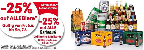 25% Rabatt alle Biere und Beertender-Geräte bei Interspar - nur noch 3 Stunden
