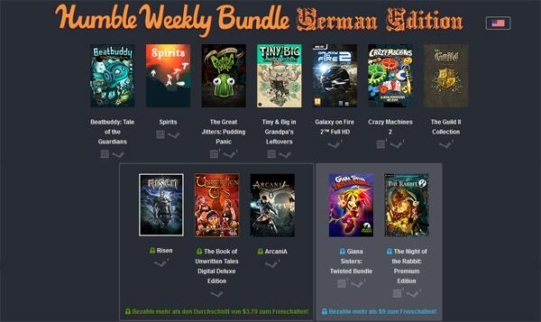 """Humble Weekly Sale """"German Edition"""" - bis zu 12 Spiele ab 1$ kaufen"""