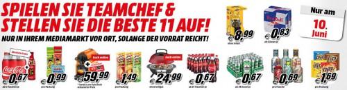 Media Markt Filialangebote - gültig nur heute - z.B. 250 ml Red Bull für 0,83 €, 500 ml Coca Cola für 0,67 €, usw.
