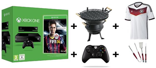 Xbox One + 2. Controller + FIFA 14 + Grill + Grillbesteck + WM-Trikot für 439 € - 28% sparen