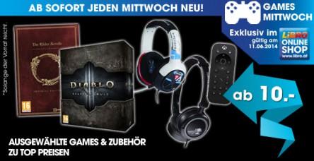 Libro Games Mittwoch: Headsets und Games - bis zu 46% sparen