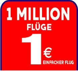1 Million Flüge für 1€ pro Strecke bei Ryanair *UPDATE*