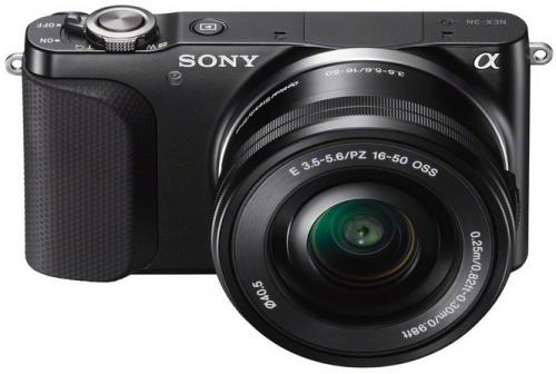 "Systemkamera Sony NEX-3NLB inkl. SEL-P 16-50 mm Objektiv (16,1 MP, 3"", Full HD) um 199 € - bis zu 34% sparen"