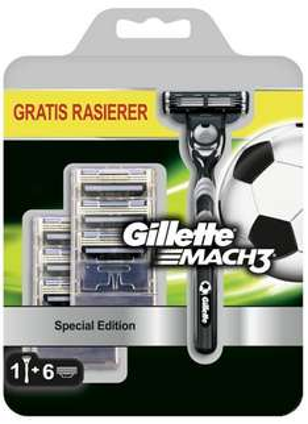TOP! 7 Gillette MACH3 Klingen + Gillette MACH3 Rasierer um 6,99 € - mehr als 53% sparen