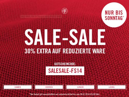 zusätzliche 30% Rabatt mit Gutscheincode im Sale Bereich (bis 50%) bei Marc O'Polo