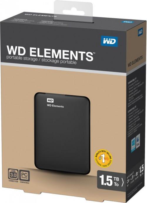 """WD Elements Portable externe Festplatte (2,5"""", 1,5 TB, USB 3.0) um 64,38 € *Update* jetzt um 66 € erhältlich"""