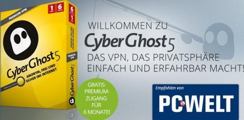 Top! CyberGhost 5 Premium VPN - 6 Monate gratis - 12,50 € sparen