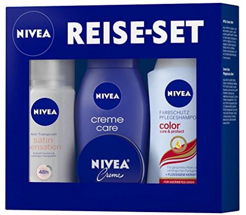 Nivea-Produkte im Wert von mind. 9 € kaufen und ein Reise-Set gratis sichern