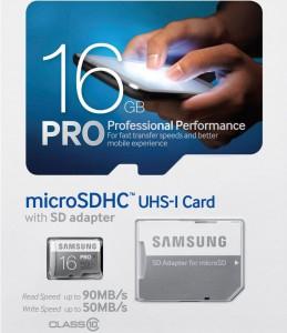 Samsung microSDHC Pro (16GB, UHS-I, 50 MB/s) um 21 € - bis zu 35% sparen