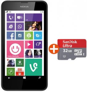 Nokia Lumia 635 LTE + SanDisk Ultra 32 GB microSDHC um 149 € - bis zu 20% sparen