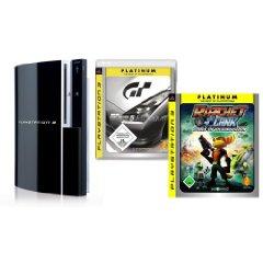 Playstation 3 80GB + 2 Platinum Spiele für 339€