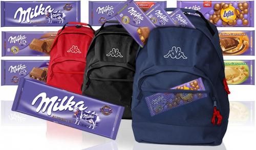 10 Tafeln Milka Schokolade (300 g) & Kappa Rucksack um 24,99 € - 34% Ersparnis