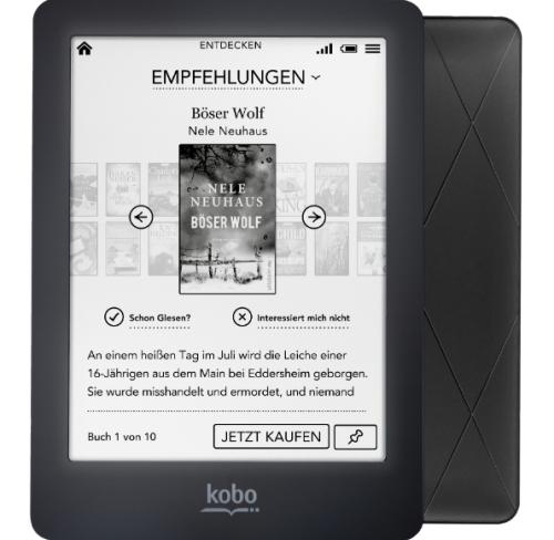 """Kobo """"Glo"""" eBook Reader um 95 € - bis zu 20% sparen"""