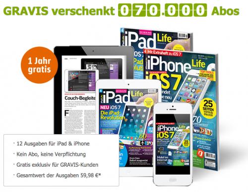 Gravis verschenkt iPad + iPhone Life Magazin Jahresabo als ePaper - kein Abo, keine Verpflichtungen