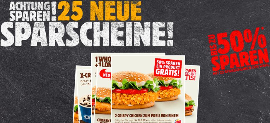 Burger King Österreich - neue Gutscheine - gültig bis 31.10.2014