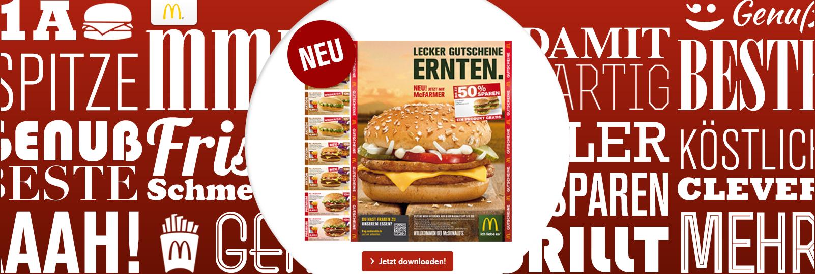 McDonald's Deutschland - neue Gutscheine - gültig bis 28.09.2014