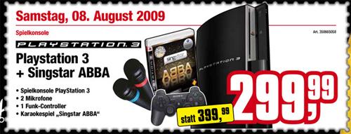 PS3 mit Singstar und 2 Mikrofonen für 299,99€ @Cosmos.at