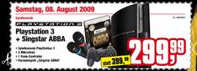 Playstation 3 + Singstar ABBA inkl. 2 Mikrofone für 300€