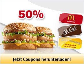 [Top] Neue McDonald's Gutscheine für Österreich (gültig bis 05.10.2014)