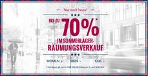 [Top] TomTailor: Sale mit bis zu 70% Rabatt + 10% Zusatzrabatt - nur noch heute