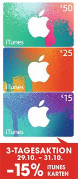Libro: 15% Rabatt auf alle iTunes-Karten - bis 31.10.2014