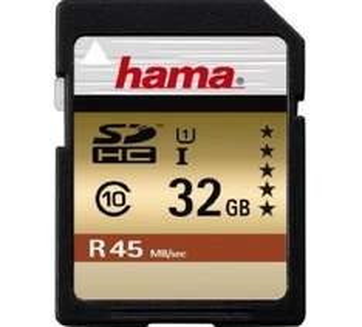 Hama SDHC-Karte (32 GB, UHS-I, 45MB/s) um 14,99 € - bis zu 20% sparen