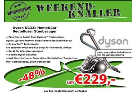 "Dyson ""DC33c Home & Car"" Staubsauger um 229 € - bis zu 23% sparen"