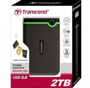 """Transcend """"StoreJet M3"""" externe Festplatte (2 TB, USB 3.0) um 94,90 € - bis zu 22% sparen"""