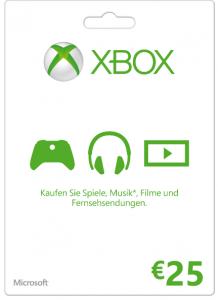 25 € Xbox Live Guthabenkarte um 18 € – 23% sparen