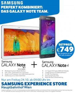 """""""Samsung Note 4"""" + """"Samsung Note 10.1"""" um 749 € - nur am 24.10.2014 - 41% sparen"""