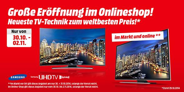 Media Markt Österreich: Gute UHD-TV-Angebote zur Online-Shop-Neueröffnung - bis zu 47% sparen!
